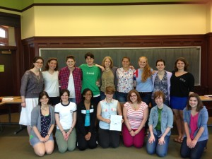 Me with my delightful Advanced Fiction: Linked Short Story students from this spring.